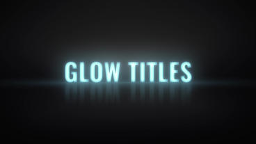 Glow Titles Premiere Pro Template