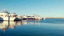 Yachts Berthed at Fremantle Fishing Boat Harbour Footage