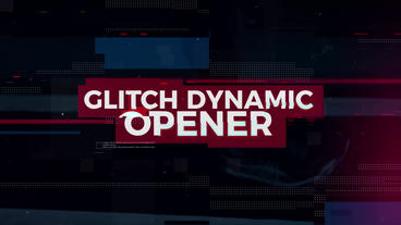 Glitch Dynamic Opener Premiere Proテンプレート