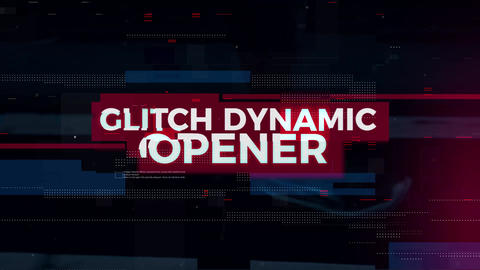 Glitch Dynamic Opener Premiere Pro Template