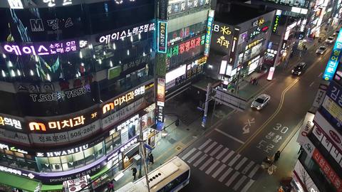 Street view of Sajik-Dong Busan 07 Footage