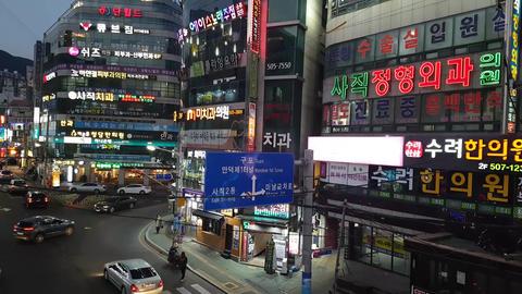 Street view of Sajik-Dong Busan 03 Footage