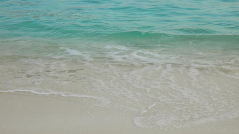 waves on tropical beach with white sand Footage