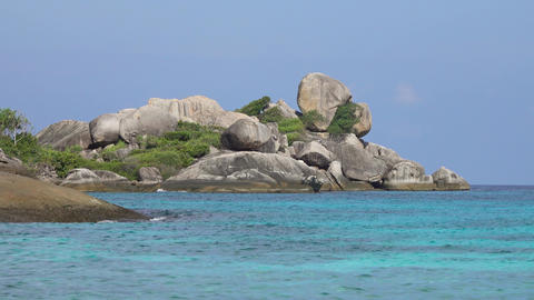 Stones and rocks on Similan islands, Thailand Footage