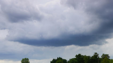 storm clouds moving in sky - timelapse Footage