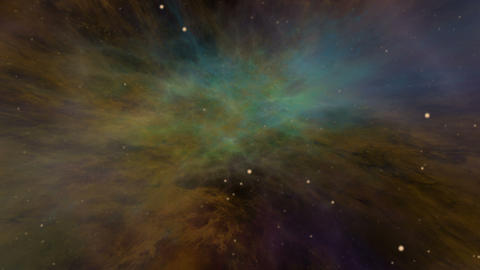 Universe, Colorful Space Nebula and Stars Animation