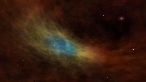 Universe, Colorful Nebula and Stars Animation