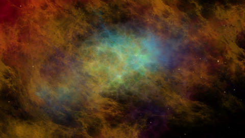 Colorful Nebula and Stars, Universe Animation