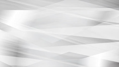 White grey glossy stripes abstract tech video animation Animation