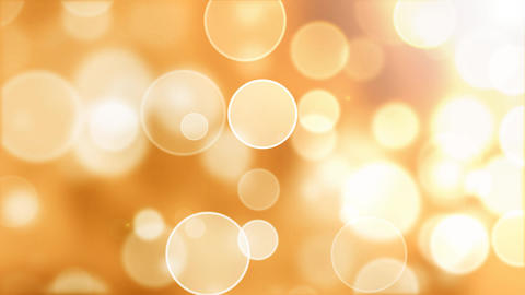 Warm flying bokeh lights abstract background with glow effect Animation