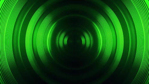 Green Round Circular Waves Tunnel VJ Loop Motion Background Animación