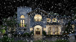 beautiful mansion under the snow, computer generated 3d 画像