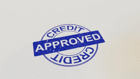 CREDIT APPROVED wooden stamp Live Action