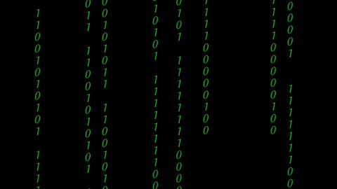 Abstract Binary Digital Code in color 영상물