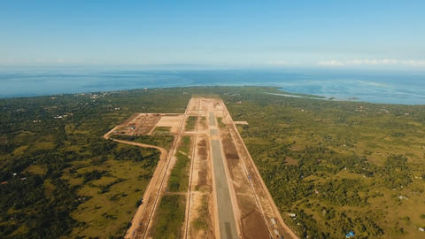 Construction of a new airport terminal.Philippines, Bohol, Panglao Foto