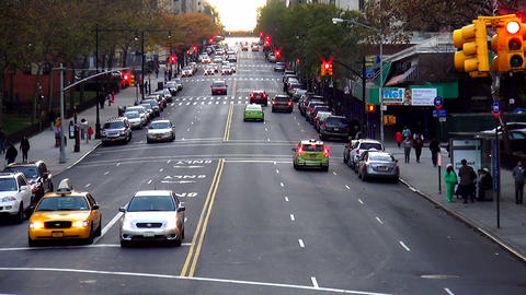 Typical Manhattan street view – MANHATTAN, NEW YORK/USA NOVEMBER 20, 2013 Live Action