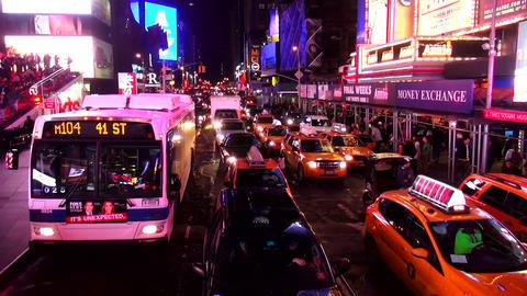 Times Square Manhattan New York by night – MANHATTAN, NEW YORK/USA NOVEMBER 20 Live Action