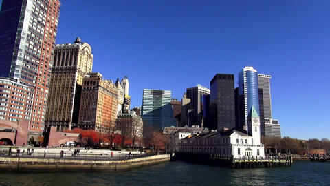 Battery Park and Financial district Manhattan – MANHATTAN, NEW YORK/USA NOVEMB Footage