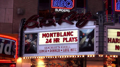 Famous B.B. King Theatre on Broadway – MANHATTAN, NEW YORK/USA NOVEMBER 20, 20 Footage
