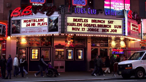 Famous B.B. King Theatre on Broadway – MANHATTAN, NEW YORK/USA NOVEMBER 20, 20 Footage