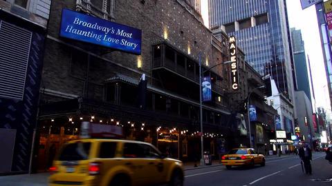 Majestic Theatre on Broadway playing Phantom of the Opera – MANHATTAN, NEW YOR Footage
