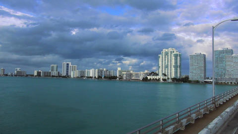 Miami Beach Skyline – MIAMI, FLORIDA/USA OCTOBER 23, 2013 Live Action
