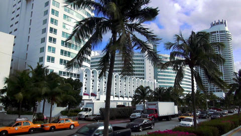 Miami Beach street view – MIAMI, FLORIDA/USA OCTOBER 23, 2013 Live Action