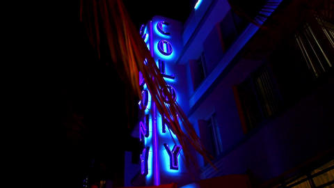Famous Colony Hotel Miami Beach Ocean Drive – MIAMI, FLORIDA/USA OCTOBER 23, 2 Footage