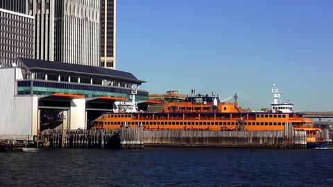 Staten Island Ferry Terminal Manhattan – MANHATTAN, NEW YORK/USA NOVEMBER 20,  Live Action
