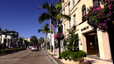 Rodeo Drive in Beverly Hills Los Angeles – LOS ANGELES, CALIFORNIA NOVEMBER 8, Footage