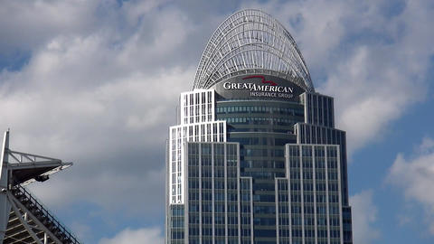 Famous Skyscraper Great American Insurance Group Cincinnati - CINCINNATI, OHIO/U stock footage