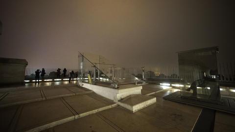 Observation Deck On Triumphs Arch Arc De Triomphe stock footage