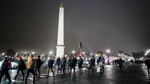 Famous Obelisk at Place de la Concorde Live Action