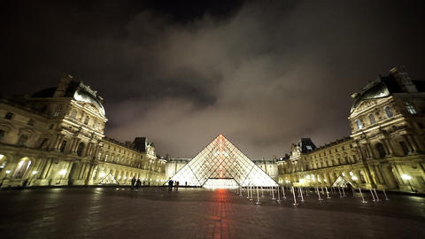 The famous Louvre in Paris - for editorial use only Footage