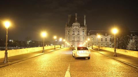 Bridge over River Seine in Paris Footage