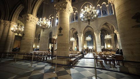 The famous Notre Dame cathedral in Paris - for editorial use only Footage