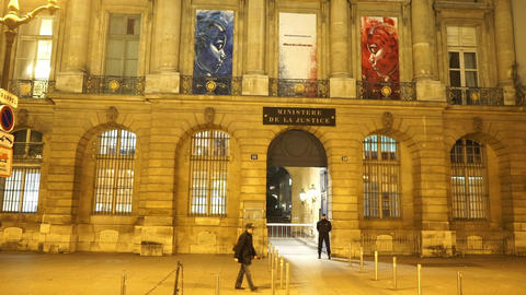 Ministry of Justice in Paris Footage