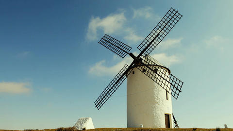 Spanish old windmills Live Action
