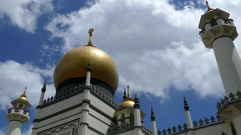 Time lapse from the Suktan Mosque in Singapore Footage