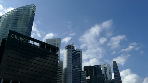 Time lapse from skyscrapers around Marine Bay Footage