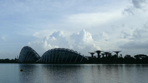 Flower Dome And Cloud Forest At Gardens By The Bay stock footage