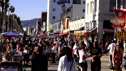 Venice Beach - crowded place in Los Angeles – LOS ANGELES, CALIFORNIA NOVEMBER Footage