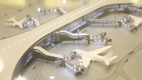 Aerial view of Airport Live Action