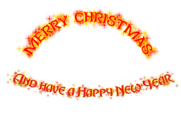 Merry Christmas and Have a Happy New Year lettering Animation
