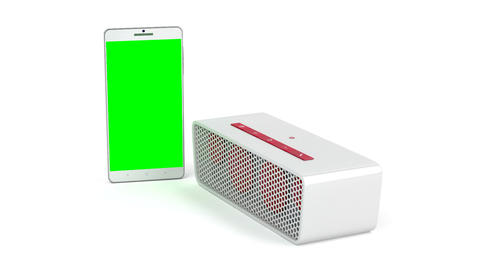 Smartphone and wireless portable speaker Animation