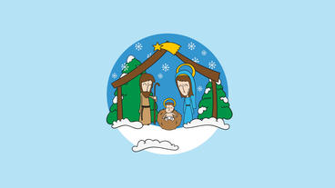Nativity Scene Logo Opener After Effects Template