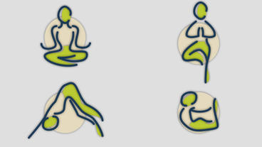 Yoga Poses Icon Set After Effects Template