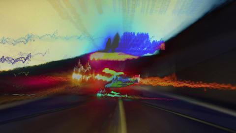 Abstract tunnel lights ภาพวิดีโอ