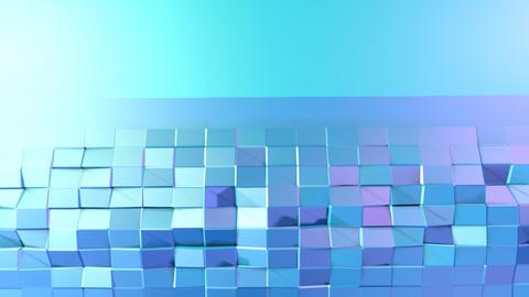 Blue violet low poly 3d surface as surreal landscape Footage