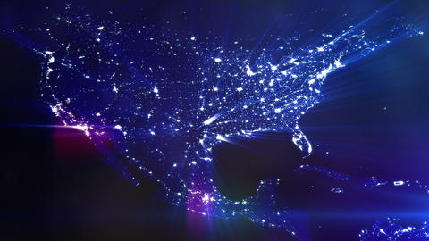 Lit up north america graphic Live Action